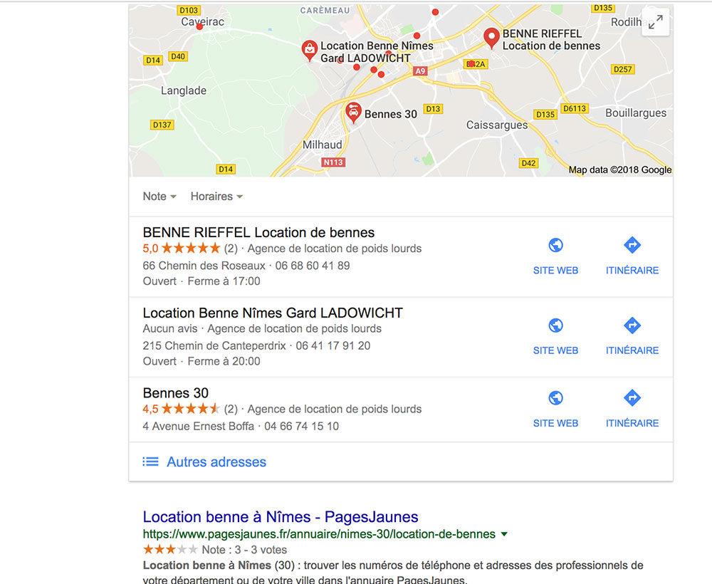 Location Bennes Nîmes